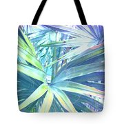 Tropical Dreams In Pastel Purple-blue Tote Bag