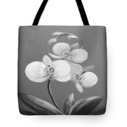 Tropical Elegance In Black And White Tote Bag