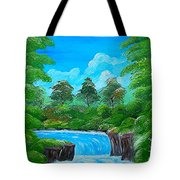 Tropical Falls Tote Bag
