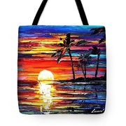 Tropical Fiesta - Palette Knife Oil Painting On Canvas By Leonid Afremov Tote Bag