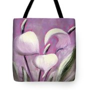 Tropical Flowers In Pink Color Tote Bag