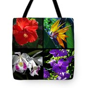 Tropical Flowers Multiples Tote Bag
