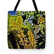 Tropical Foliage A-la Monet Tote Bag