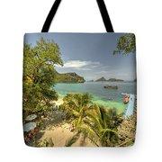 Tropical Harbour Tote Bag
