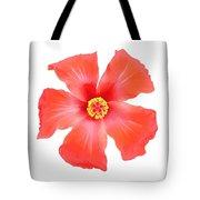 Tropical Hibiscus Flower Vector Tote Bag