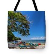 Tropical Island Panorama Paradise Tote Bag