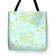Tropical Lagoon Leaves Tote Bag
