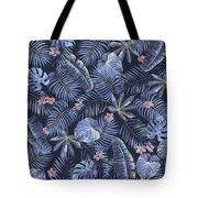 Tropical Leaves Pattern Tote Bag