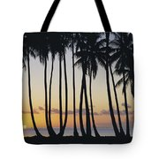 Tropical Palm Sunset Tote Bag