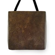 Tropical Palms Canvas Bronze - 16x20 Hand Painted Tote Bag