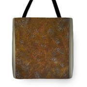 Tropical Palms Canvas Copper Silver Gold - 16x20 Hand Painted Tote Bag