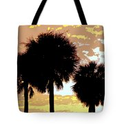Tropical Palms Work Number Four Tote Bag