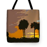 Tropical Palms Work Number Three Tote Bag