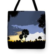 Tropical Palms Work Number Two Tote Bag