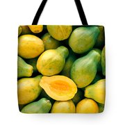 Tropical Papayas Tote Bag