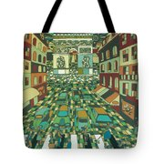 Tropical Paris Tote Bag