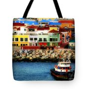 Tropical Port Tote Bag