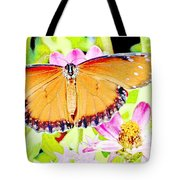 Tropical Queen Butterfly, Soldier Butterfly Tote Bag
