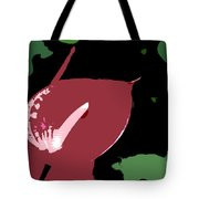 Tropical Red Number 12 Tote Bag