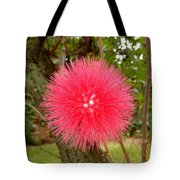 Tropical Red Puff Tote Bag