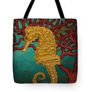 Tropical Seahorses Tote Bag