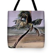 Tropical Seascape Digital Art A7717  Tote Bag by Mas Art Studio