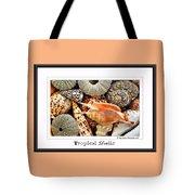 Tropical Shells... Greeting Card Tote Bag by Kaye Menner