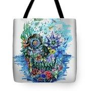 Tropical Skull 2 Tote Bag