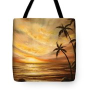 Tropical Sunset 64 Tote Bag