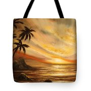 Tropical Sunset 65 Tote Bag