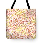 Tropical Sunset Leaves Tote Bag