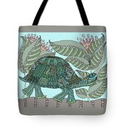 Tropical Turtle Tote Bag