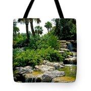 Tropical Water Falls Tote Bag