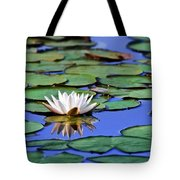 Tropical Water Lily Tote Bag