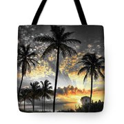 Tropically, Black And Gold. Tote Bag