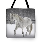 Trot In The Snow Tote Bag