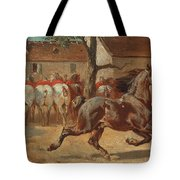 Trotting A Horse Tote Bag