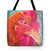 Troubles Portrait Chicken Art Tote Bag