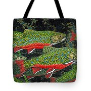 Trout Art Brook Trout Fish Artwork Giclee Wildlife Underwater Tote Bag