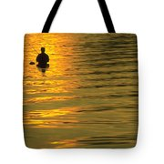 Trout Fishing At Sunset Tote Bag