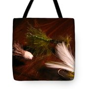 Trout Flys Tote Bag
