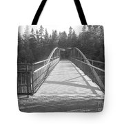 Trowbridge Falls Bridge Bw Tote Bag