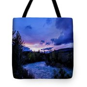 Truckee River Sunset Tote Bag