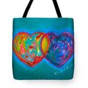 True Blue Hearts Tote Bag