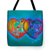 True Blue Hearts Tote Bag