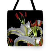 True Lilies Tote Bag by Andy Za