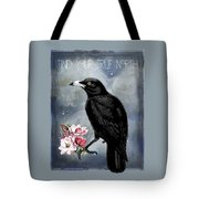 True North Crow And Magnolias Tote Bag