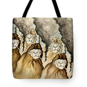 Trump Impeachment Camels Are Smoking Guns - Political Cartoon Tote Bag