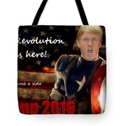 Trump Revolution Tote Bag by Guy  Cannon