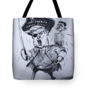 Trump, Short Fingers Pirate With Ryan, The Bird  Tote Bag